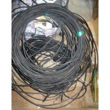 Оптический кабель Б/У для внешней прокладки (с металлическим тросом) в Хасавюрте, оптокабель БУ (Хасавюрт)